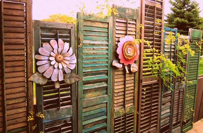 Creatieve Oplossing Schutting : Originele schutting ideeën voor in je tuin